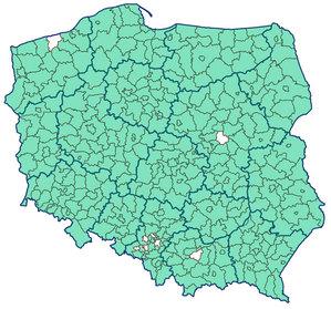 Już tylko pojedyncze powiaty bez bezpośredniej komunikacji EGiB-EKW
