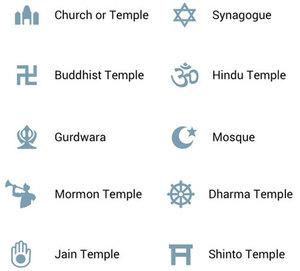 Poseł interweniuje ws. oznaczenia kościołów na Mapach Google <br /> Dotychczasowe wzory sygnatur dla świątyń