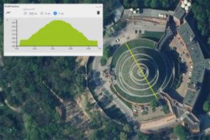 Profil podłużny terenu dostępny w Geoportalu