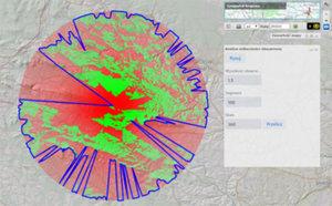 Analizy widoczności w Geoportalu <br /> Analiza obszarowa