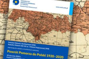 Powrót Pomorza do Polski na mapach