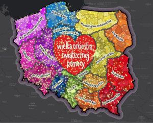 Mapy na 28. finał WOŚP <br /> Mapa sztabów WOŚP