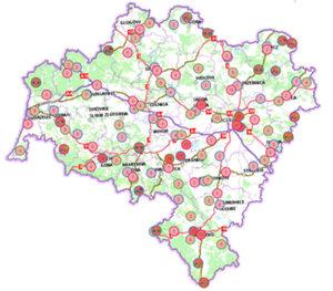 Wypadki drogowe w dolnośląskim geoportalu