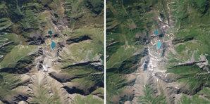 Satelity RapidEye idą na opóźnioną emeryturę <br /> Lodowiec Pizol w Szwajcarii w 2009 i 2019 r.