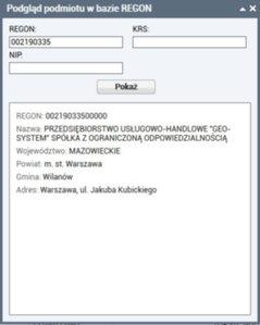 Komunikacja z REGON również w e-property