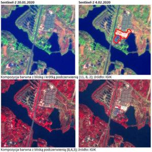 Sentinel-2 obserwuje postępy budowy szpitala w Wuhan