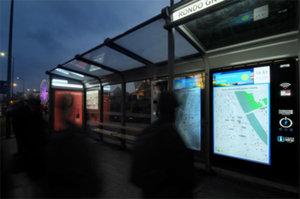 Interaktywne mapy na krakowskich przystankach