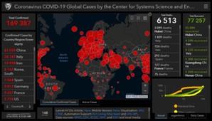 Mapą w wirusa <br /> Opracowanie JHU
