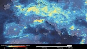 Skutki epidemii koronawirusa we Włoszech okiem satelity