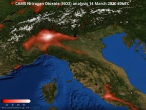 Obniżenie poziomu dwutlenku azotu wpółnocnych Włoszech