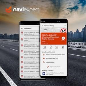 NaviExpert podczas epidemii