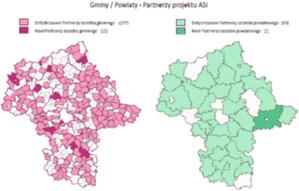 Mazowieckie ogłasza VIII turę cyfryzacji PZGiK <br /> Gminy i powiaty uczestniczące w Projekcie ASI