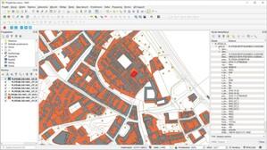 GUGiK udostępnia próbkę danych BDOT10k <br /> Próbka danych w QGIS