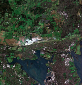 Jak zdjęcia satelitarne mogą pomóc w walce z pandemią COVID-19? <br /> Londyn, zdjęcie wykonane przez satelitę Jilin-1 chińskiej firmy CG Satellite