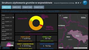 Struktura użytkowania gruntów w województwie łódzkim na interaktywnej mapie