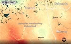 Susza nad Biebrzą okiem satelity SMOS <br /> Biebrza podczas tegorocznej suszy