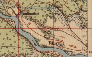 Blisko tysiąc nowych nabytków w Archiwum Map WIG <br /> Mapa 1:42 000, fragment arkusza Michaliszki, wyd. Robotniczo-Chłopska Armia Czerwona, 1930 r.