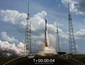 Trzeci satelita GPS III generacji już na orbicie <br /> fot. SpaceX