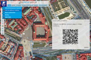 Generowanie kodu QR z lokalizacją w Geoportalu
