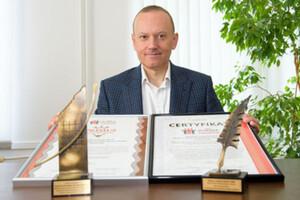 """Wydział Geoinżynierii UWM z certyfikatem """"Uczelnia Liderów 2020"""" <br /> Dziekan WG UWM prof. Paweł Wielgosz"""