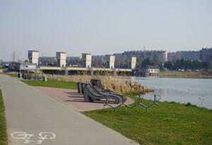 Jakie przemieszczenia na Stopniu Wodnym w Rzeszowie? <br /> Stopień wodny na rzece Wisłok w Rzeszowie, fot. Wody Polskie