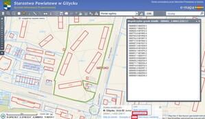 Współrzędne punktów załamania działki w geoportalach e-mapa.net