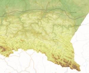 Podkarpacki WODGiK zamawia mapy rzeźby <br /> fot. Geoportal.gov.pl