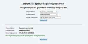 Geobid udostępnia usługę weryfikacji statusu pracy geodezyjnej