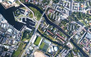Niech decyduje rynek <br /> Fragment ortofotomapy Kołobrzegu opracowanej na podstawie zdjęć z drona przez firmę Colidrone