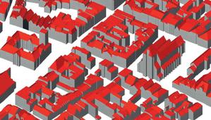 3D na miarę możliwości <br /> Fragment modelu 3D toruńskiego Starego Miasta z projektu CAPAP wyświetlony w otwartej aplikacji FZK Viewer