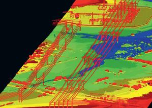 Doświadczenia produkcyjne z nowymi skanerami lotniczymi <br /> Linie energetyczne widoczne na danych ze skanera jednofotonowego SPL100 [Roth, 2019]