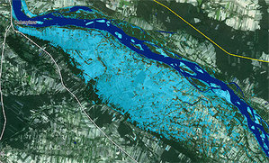 Mapy powodziowe hamowane przez brak danych  <br /> fot. GMES/Safer