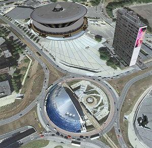 Sześciu chętnych na zdjęcia lotnicze dla Katowic <br /> fot. Google Earth