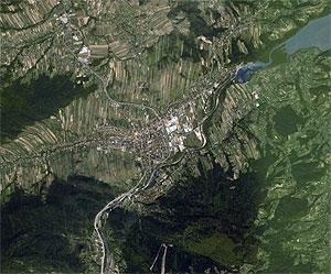 Dla kogo myślenicka ortofotomapa? <br /> fot. Google Earth