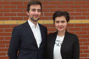 Sukces polskich studentów w Sankt Petersburgu <br /> Radosław Zajdel i Justyna Ruchała (fot. Paweł Bogacz)