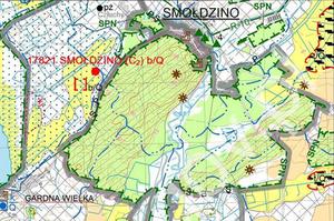 Udostępniono nowe arkusze mapy geośrodowiskowej <br /> Fragment arkusza 10 - Smołdzino (Gardna Wielka), plansza A
