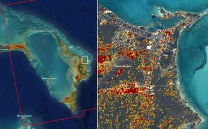 Skutki huraganu Dorian okiem satelity Sentinel-1
