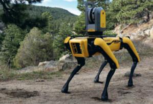 Czy rozdziobią nas roboty do wykonywania precyzyjnych pomiarów? <br /> Autonomiczna platforma krocząca Spot z możliwością integracji z instrumentami pomiarowymi