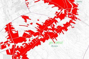 Powiat łańcucki zleca nie tylko modernizację EGiB <br /> Fragment mapy przeglądowej do projektu modernizacji EGiB w gminie Łańcut (źródło: SIWZ)