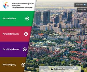 Warszawa: I etap wdrożenia systemu ZGiK zakończony <br />  Portal systemu do obsługi zasobu geodezyjnego i kartograficznego m.st. Warszawy