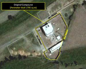Siedziba bin Ladena z satelity