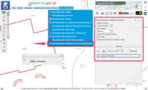 Wyszukiwanie punktów osnowy w Geoportalu