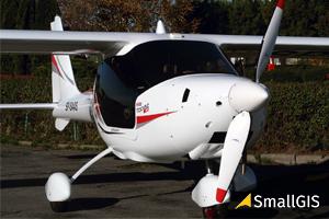 Samolot zamiast drona w ofercie firmy SmallGIS <br /> Samolot UltraLaser / SmallGIS