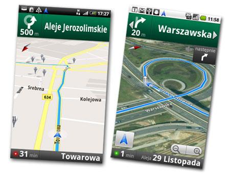 Darmowa Nawigacja Google Android