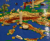 Mapa Europy z lego