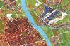 Mapa z inwentaryzacją zniszczeń wojennych w Muzeum Woli