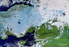 Śnieg w Turcji na zdjęciu z satelity Sentinel-3