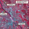 Awaria stołecznego kolektora okiem satelity