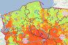Zagrożenie suszą na mapach
