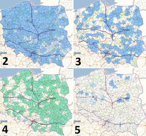 Nowa grupa warstw w Geoportalu - Stan informatyzacji powiatów